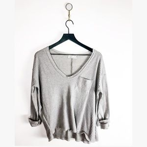 Urban Outfitters Vneck grey sweater small